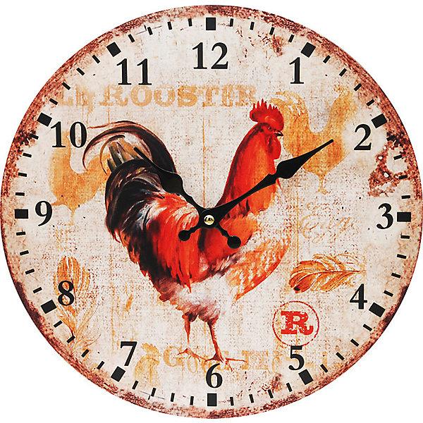 Белоснежка Часы настенные Петушок, диаметр 34 см