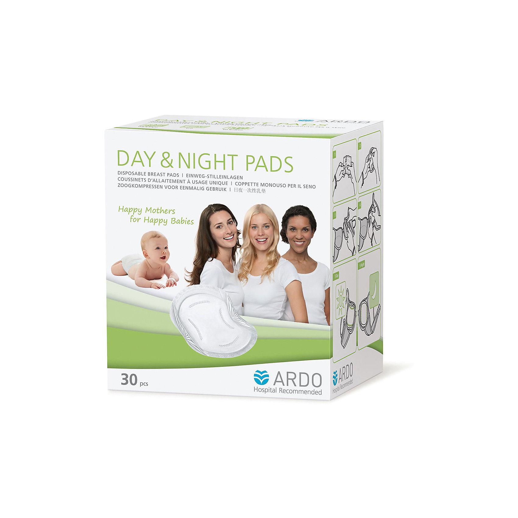 Одноразовые прокладки для бюстгальтера DAY  NIGHT PADS, ARDO, 30 шт