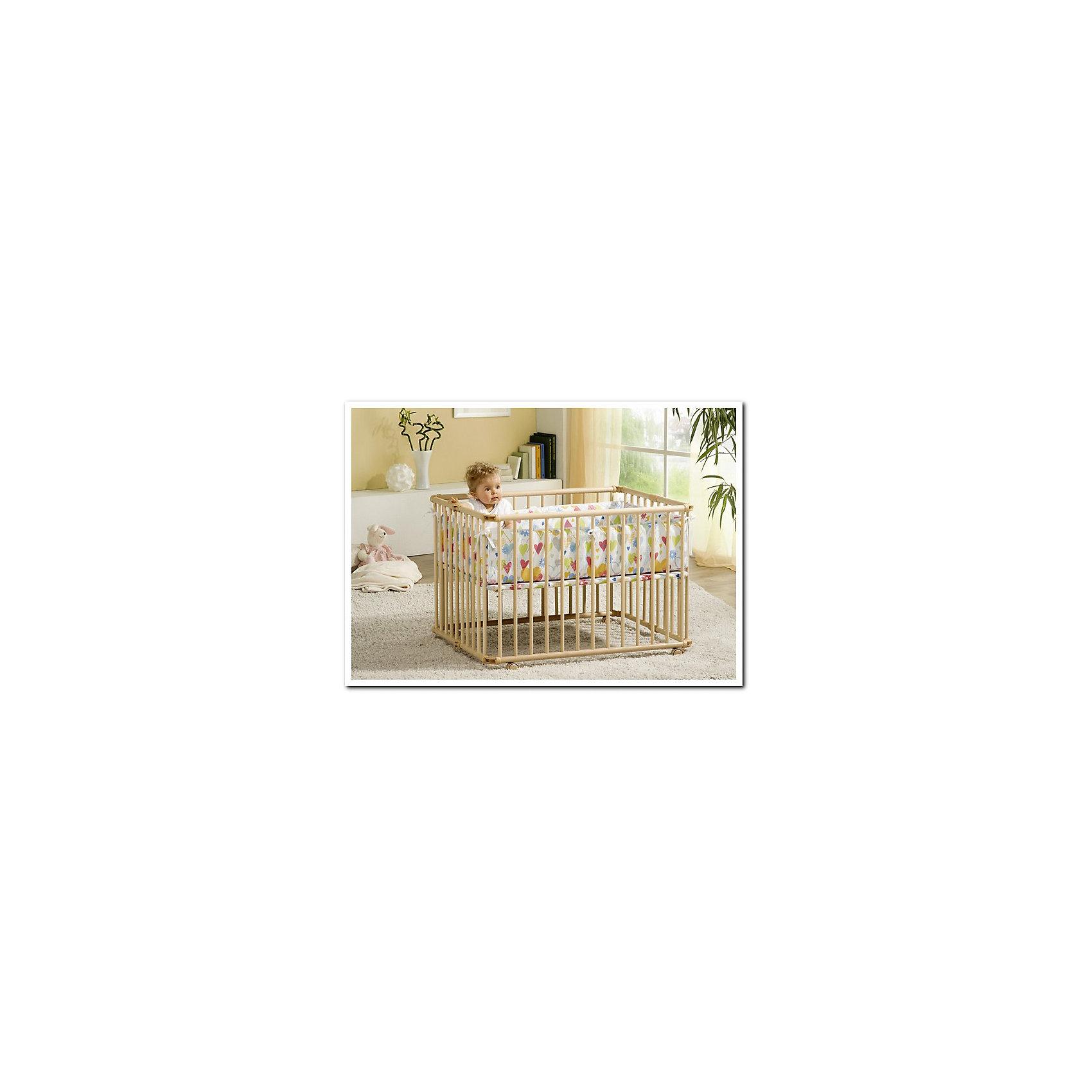 Кроватка-манеж 94.5*102см Lucilee, Geuther, натуральный