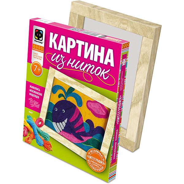Картина из ниток КитНаборы для шитья<br>Набор для детского творчества. Уникальная техника Нитеграфия поможет вашему ребенку создавать собственные картины из цветных ниток.