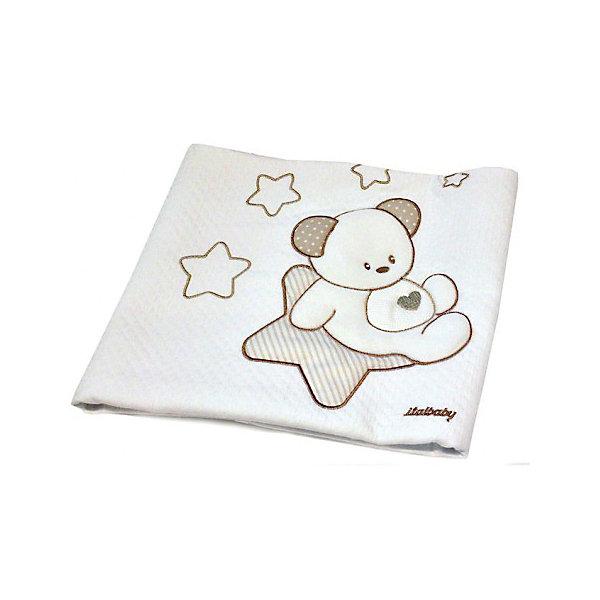 Italbaby Покрывало Sweet Star 65х80 пике, Italbaby, крем italbaby детская кроватка люлька italbaby sweet angels