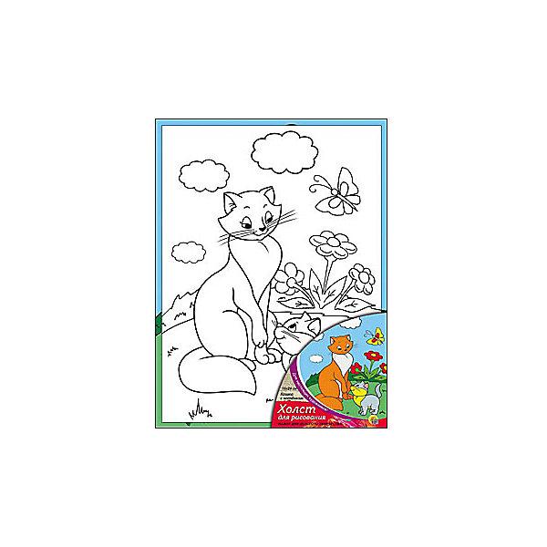 Холст с красками Кошка с котёнком 18х24 смКартины по номерам<br>замечательные наборы для создания уникального шедевра изобразительного искусства. Создание картин на специально подготовленной рабочей поверхности – это уникальная техника, позволяющая делать Ваши шедевры более яркими и реалистичными. Просто нанесите мазки на уже готовый эскиз и оживите картину! Готовые изделия могут стать украшением интерьера или прекрасным подарком близким и друзьям.<br>Ширина мм: 180; Глубина мм: 240; Высота мм: 15; Вес г: 1075; Возраст от месяцев: 36; Возраст до месяцев: 108; Пол: Унисекс; Возраст: Детский; SKU: 5096735;