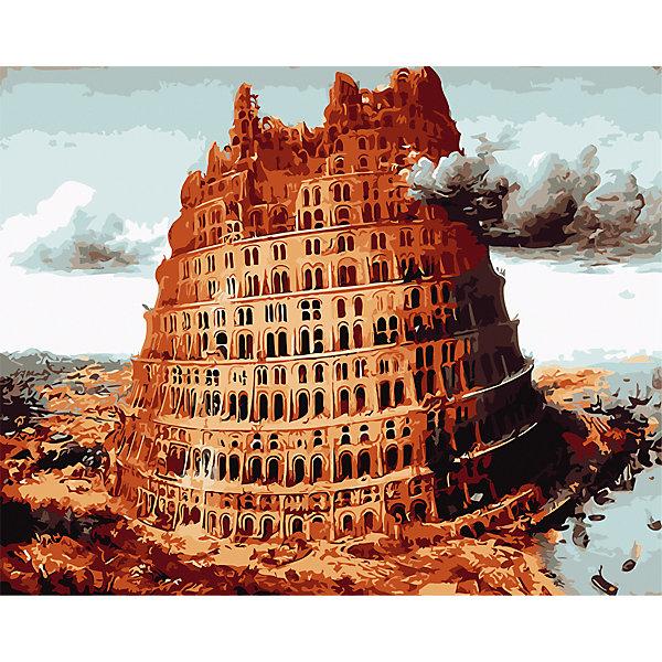 Рыжий кот Холст с красками по номерам Вавилонская башня 40х50 см рыжий кот холст с красками по номерам забавные щенки 30х40 см