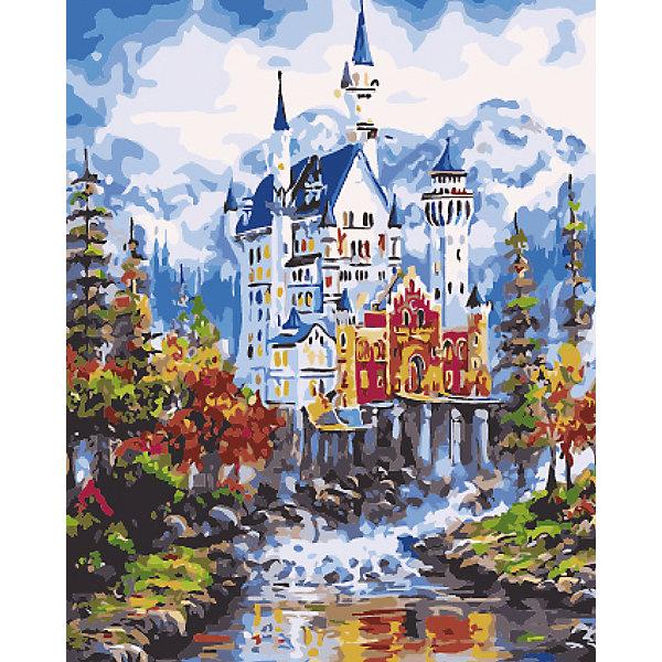 """Рыжий кот Холст с красками по номерам """"Величественный замок в горах"""" 40х50 см"""