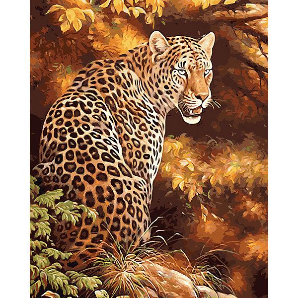 Холст с красками по номерам Грозный леопард 40х50 смКартины по номерам<br>замечательные наборы для создания уникального шедевра изобразительного искусства. Создание картин на специально подготовленной рабочей поверхности – это уникальная техника, позволяющая делать Ваши шедевры более яркими и реалистичными. Просто нанесите мазки на уже готовый эскиз и оживите картину! Готовые изделия могут стать украшением интерьера или прекрасным подарком близким и друзьям.<br>Ширина мм: 510; Глубина мм: 410; Высота мм: 25; Вес г: 900; Возраст от месяцев: 36; Возраст до месяцев: 108; Пол: Унисекс; Возраст: Детский; SKU: 5096762;