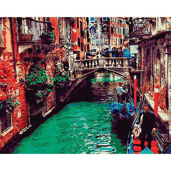Рыжий кот Холст с красками по номерам Канал в Венеции 40х50 см издательство рыжий кот холст с красками медведи в лесу 30х40 см
