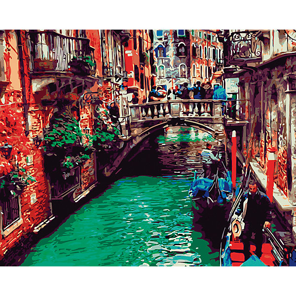 Рыжий кот Холст с красками по номерам Канал в Венеции 40х50 см puzzle 1000 канал в венеции мгк1000 6494