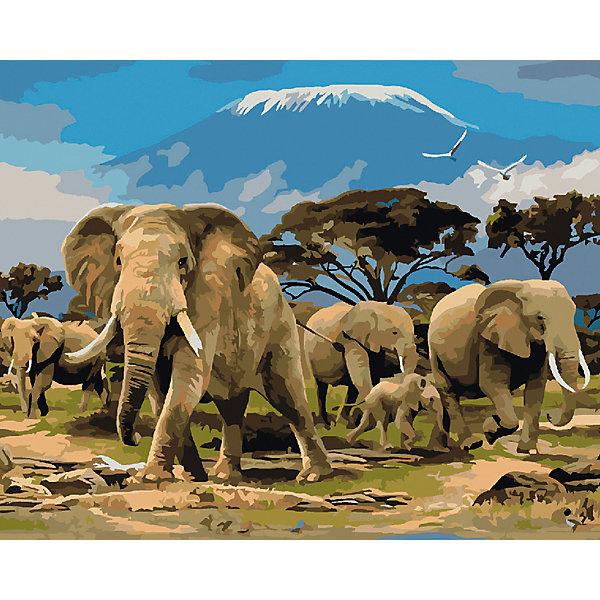 Холст с красками по номерам Семья слонов 40х50 смКартины по номерам<br>замечательные наборы для создания уникального шедевра изобразительного искусства. Создание картин на специально подготовленной рабочей поверхности – это уникальная техника, позволяющая делать Ваши шедевры более яркими и реалистичными. Просто нанесите мазки на уже готовый эскиз и оживите картину! Готовые изделия могут стать украшением интерьера или прекрасным подарком близким и друзьям.<br>Ширина мм: 510; Глубина мм: 410; Высота мм: 25; Вес г: 1800; Возраст от месяцев: 36; Возраст до месяцев: 108; Пол: Унисекс; Возраст: Детский; SKU: 5096785;