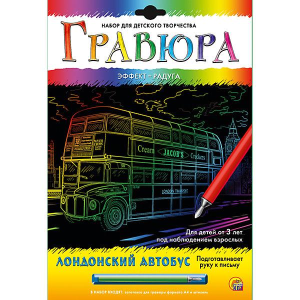 """Фотография товара гравюра А4 в конверте """"Лондонский автобус"""" (5096828)"""