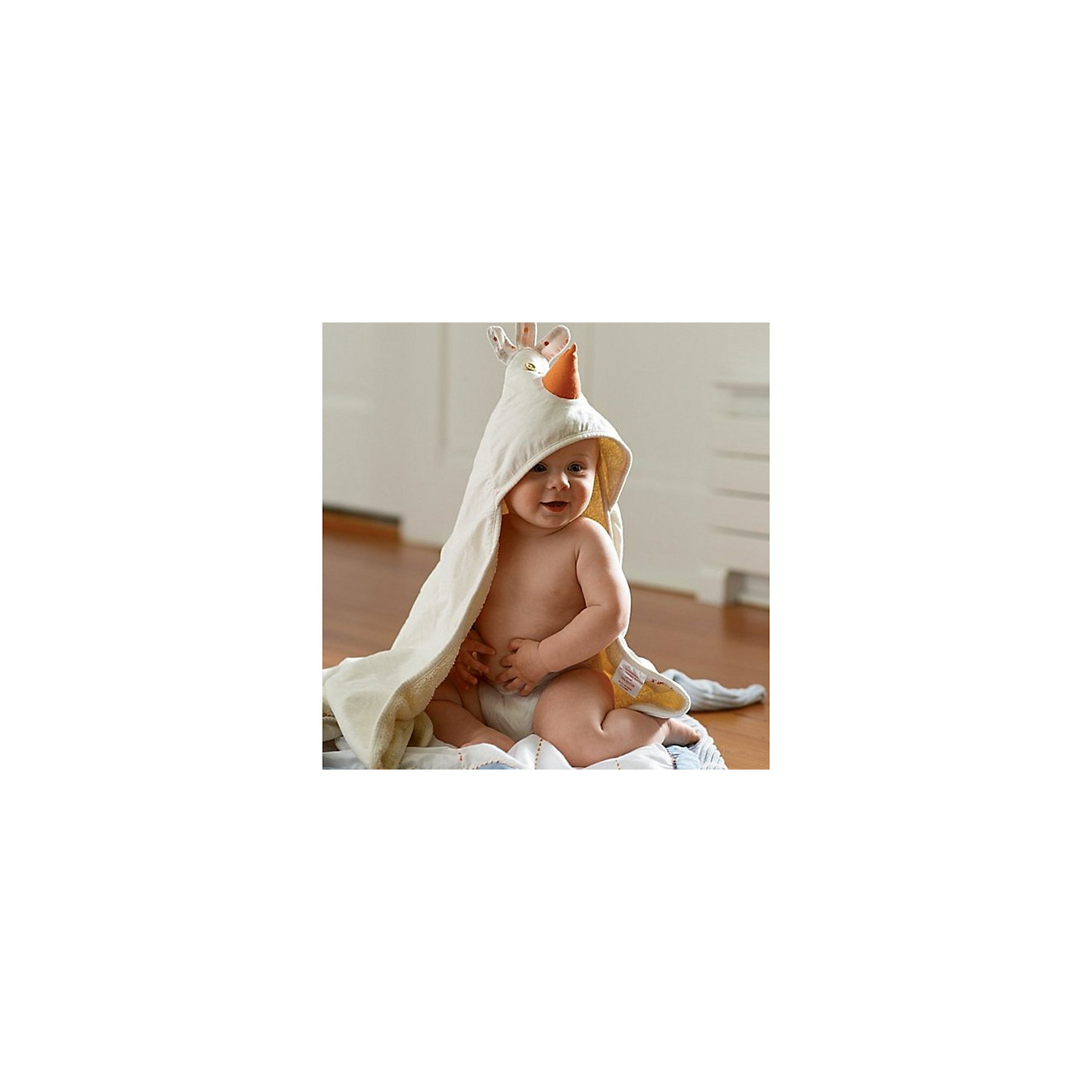 Полотенце с капюшоном Цыплёнок (Cream Chicken), 3 Sprouts