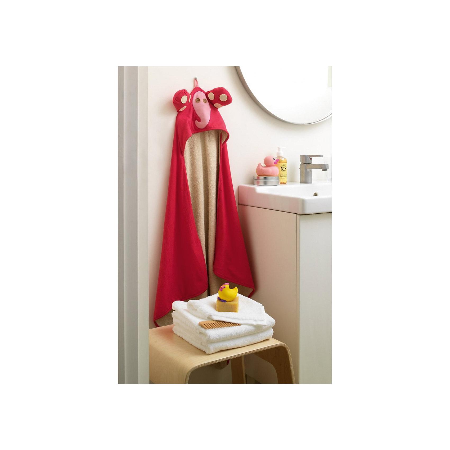 Полотенце с капюшоном Слоник (Pink Elephant), 3 Sprouts