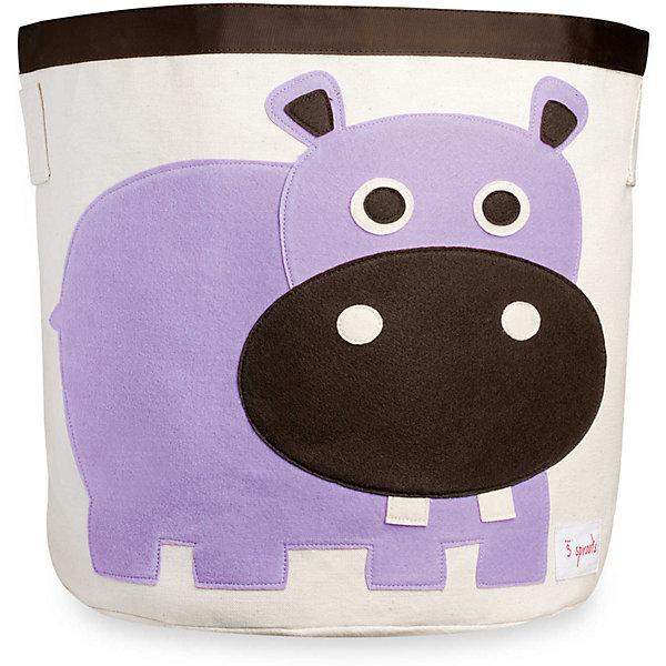 3 Sprouts Корзина для хранения Бегемотик (Purple Hippo),