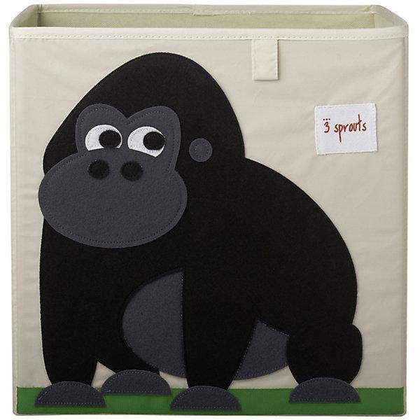 Коробка для хранения Горилла (Black Gorilla), 3 SproutsЯщики для игрушек<br>Красивая коробка - это не только место для хранения вещей, но и прекрасный декор любой комнаты.<br><br>Дополнительная информация:<br><br>- Размер: 33x33x33 см.<br>- Материал: полиэстер.<br>- Орнамент: Горилла.<br><br>Купить коробку для хранения Горилла (Black Gorilla), можно в нашем магазине.<br>Ширина мм: 330; Глубина мм: 20; Высота мм: 330; Вес г: 830; Возраст от месяцев: 6; Возраст до месяцев: 84; Пол: Унисекс; Возраст: Детский; SKU: 5098224;