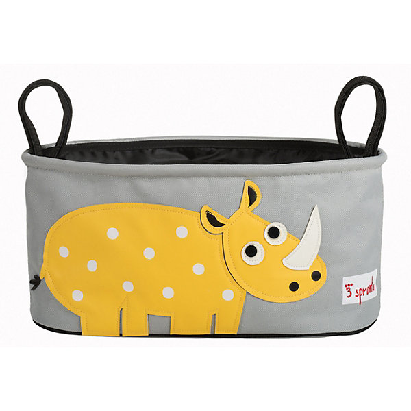 3 Sprouts Сумка-органайзер для коляски Носорог (Orange Rhino),