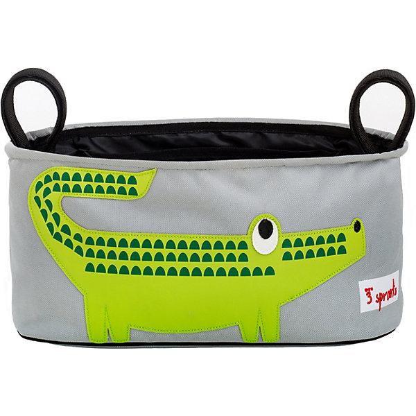 3 Sprouts Сумка-органайзер для коляски Крокодил (Green Crocodile),