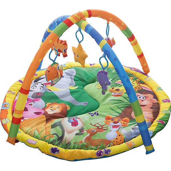 Умка Детский игровой коврик с мягкими игрушками на подвеске, Умка детский игровой коврик с погремушками на подвеске в сумке