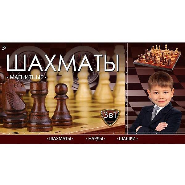 Играем вместе Шахматы магнитные 3-В-1 ( шахматы, шашки, нарды), Играем вместе настольные игры играем вместе шахматы играем вместе