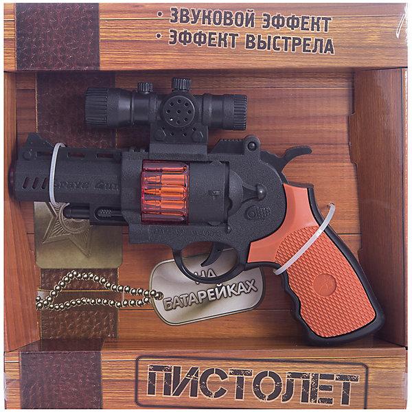 Пистолет, Играем вместеИгрушечное оружие<br>Пистолет с лазерным прицелом от компании Играем Вместе- это  игрушка, которая прекрасно подойдет детям, предпочитающим активные игры. Данное игровое оружие может издавать звуки стрельбы, а также светится во время нажатия на курок. Работает от 3 батареек типа АА<br>Ширина мм: 40; Глубина мм: 230; Высота мм: 230; Вес г: 340; Возраст от месяцев: 36; Возраст до месяцев: 72; Пол: Мужской; Возраст: Детский; SKU: 5099109;