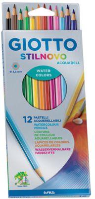 Цветные акварельные карандаши GIOTTO гексагональные, 12 цветов, артикул:5107787 - Рисование и раскрашивание
