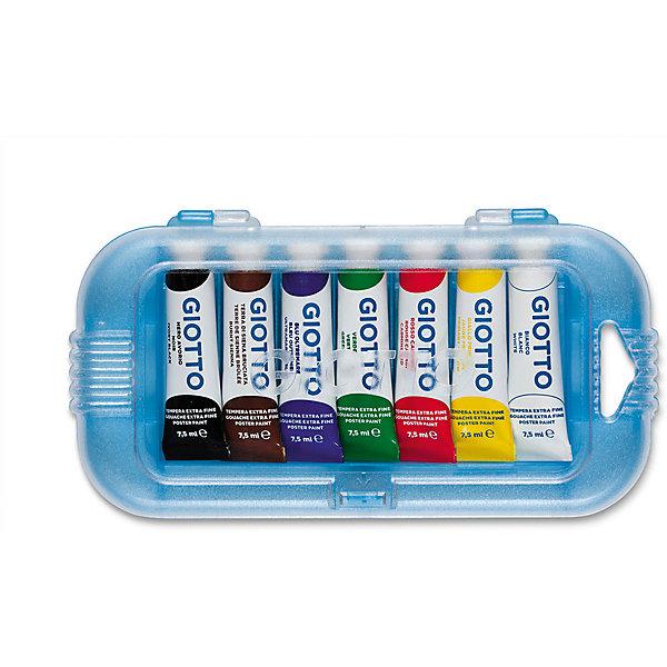 Гуашь GIOTTO экстра файн, 7 цветовКраски<br>Характеристики товара:<br><br>• возраст: от 3 лет;<br>• размер упаковки: 27х2х10 см;<br>• вес упаковки: 58 гр.;<br>• страна бренда: Италия.<br><br>Гуашь на водной основе в алюминиевых тюбиках 7,5 мл х 7 цв. Экстра-яркие насыщенные цвета, высокая концентрация пигмента, максимальная укрывистость. Набор в пластиковом кейсе.<br><br>Гуашь GIOTTO экста файн можно купить в нашем интернет-магазине.<br>Ширина мм: 21; Глубина мм: 102; Высота мм: 190; Вес г: 163; Возраст от месяцев: 72; Возраст до месяцев: 120; Пол: Унисекс; Возраст: Детский; SKU: 5107819;