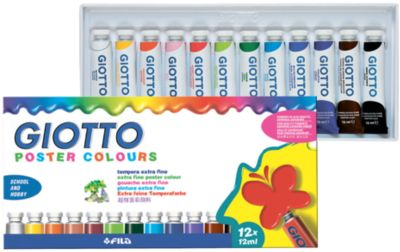 Плакатная гуашь на водной основе в алюминиевых тюбиках 12 мл х 12 цветов, артикул:5107821 - Рисование и лепка