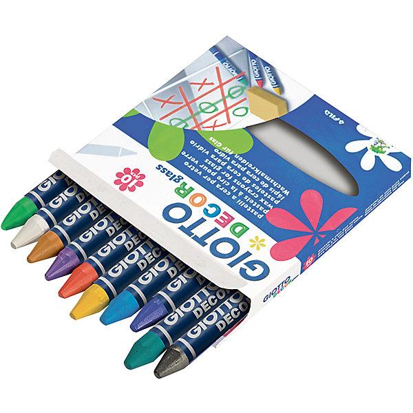 GIOTTO Восковые мелки для для декора стекла 10 цветов карандаши восковые мелки пастель giotto stilnovo cancellab temp gom 10 цветных с индивидуальным ластиком