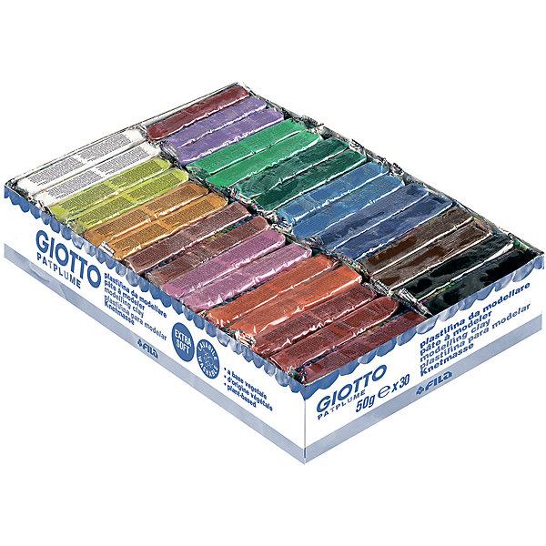 GIOTTO Экстра-мягкий пластилин 30 шт х 50 г, 15 цветов. пластилин 5 цветов 100 гр kin