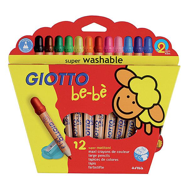 Толстые деревянные карандаши, 12 штКарандаши<br>Характеристики товара:<br><br>• в комплекте: 12 карандашей (12 цветов), точилка;<br>• диаметр грифеля: 7 мм;<br>• твердость грифеля: HB;<br>• размер упаковки: 22х22,5х2 см;<br>• вес: 224 грамма;<br>• возраст: от 2 лет.<br><br>Giotto BEBE Super Largepencils - прекрасный выбор для маленьких художников. В набор входят 12 карандашей утолщенной формы, удобной для детских рук. Карандаши пишут яркими цветами, сохраняющими насыщенность в течение долгого времени. Карандаши из калифорнийского кедра с тонким покрытием из водного лака полностью безопасны для малышей. Грифель выдерживает даже сильное нажатие до 50 килограмм.<br><br>Giotto BEBE (Джотто Бебе) Super Largepencils 12 цв.Деревянные карандаши с точилкой можно купить в нашем интернет-магазине.<br>Ширина мм: 240; Глубина мм: 21; Высота мм: 238; Вес г: 222; Возраст от месяцев: 24; Возраст до месяцев: 72; Пол: Унисекс; Возраст: Детский; SKU: 5107861;
