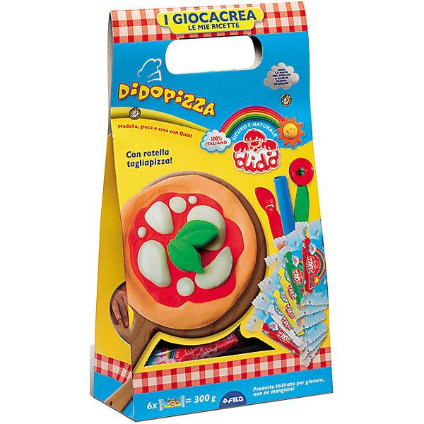 Набор для творчества в ведерке Пицца.Наборы для лепки игровые<br>Характеристики товара:  • в комплекте: паста для лепки (6х50 грамм), 3 стека, вспомогательный материал; • размер упаковки: 15х28х8 см; • вес: 600 грамм; • возраст: от 3 лет.  С помощью набора «Пицца» ребенок сможет проявить фантазию и создать самую прекрасную пиццу своими руками. В набор входят 6 брусочков пластилина, 3 стека, скалка и декоративные элементы. Один из стеков выполнен в виде ножа для пиццы, который обязательно пригодится юному шеф-повару.  Масса изготовлена на основе соли, кукурузной муки и дополнена натуральными красителями, благодаря чему она полностью безопасна для детей. Паста легко разминается, не липнет к рукам и не пачкает поверхность стола.  Набор для лепки, паста 6*50гр, 3 стека+вспомогательный материал можно купить в нашем интернет-магазине.