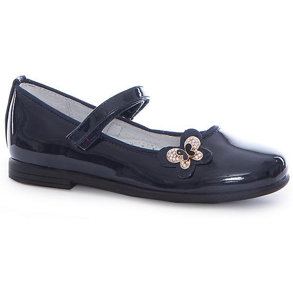 Туфли для девочки MURSUНарядная обувь<br>Характеристики товара:<br><br>• цвет: синий<br>• внешний материал: искусственная кожа<br>• внутренний материал: натуральная кожа<br>• стелька: натуральная кожа<br>• подошва: ТЭП<br>• высота подошвы: 1 см<br>• анатомическая модель<br>• наличие супинатора<br>• лакированные<br>• застежка: липучка<br>• небольшой каблук<br>• декорированы бабочкой<br>• устойчивая подошва<br>• комфортная посадка<br>• элегантный дизайн<br>• страна бренда: Финляндия<br><br>Детям нужна особенная обувь - та, которая обеспечит удобство и правильное положение стопы. Эти туфли разработаны специально для детей. Модные и легкие, они помогут обеспечить ребенку комфорт и дополнить наряд. Универсальный цвет позволяет надевать их под одежду и головные уборы различных расцветок. Туфли удобно сидят на ноге и красиво смотрятся. Отличный вариант для школы и теплой погоды!<br><br>Обувь от финского бренда MURSU - это пример стиля и высокого качества. Модели этой марки - неизменно модные и комфортные. Для их производства используются только безопасные, качественные материалы и фурнитура. Отличное качество, свойственное товарам из Финляндии, можно в полной мере ощутить, надев обуть MURSU. Порадуйте детей стильными и удобными вещами!<br><br>Туфли от финского бренда MURSU (МУРСУ) можно купить в нашем интернет-магазине.<br>Ширина мм: 227; Глубина мм: 145; Высота мм: 124; Вес г: 325; Цвет: синий; Возраст от месяцев: 60; Возраст до месяцев: 72; Пол: Женский; Возраст: Детский; Размер: 29,28,27,32,31,30; SKU: 5108063;
