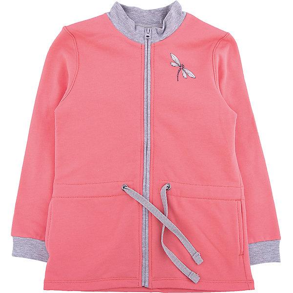 Куртка для девочки МАМУЛЯНДИЯТолстовки<br>Куртка для девочки МАМУЛЯНДИЯ<br>Куртка для девочки из коллекции Срекоза. Модель выполнена из трикотажного полотна высшего качества (футер). Дополнительным плюсом изделия является отделка принтом. Кораловый цвет будет прекрасным дополнением в гардеробе ребенка.<br>Рекомендации по уходу: стирать при температуре не выше 40 градусов, гладить при средней температуре, носить с удовольствием!<br>Состав:<br>100% хлопок<br>Ширина мм: 157; Глубина мм: 13; Высота мм: 119; Вес г: 200; Цвет: розовый; Возраст от месяцев: 24; Возраст до месяцев: 36; Пол: Женский; Возраст: Детский; Размер: 98,92,122,116,110,104; SKU: 5109052;