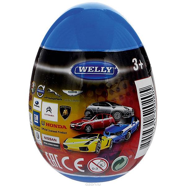 Купить Модель машины 1:60 Яйцо-сюрприз , синяя, Welly, Китай, Мужской