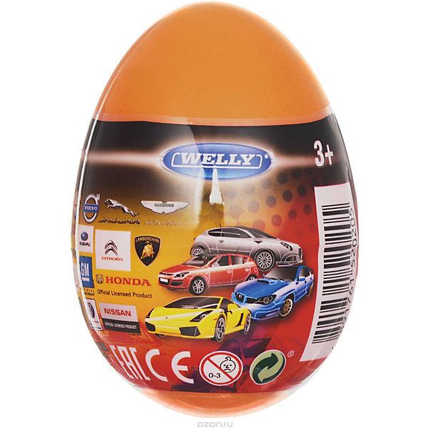 Купить Модель машины 1:60 Яйцо-сюрприз , оранжевая, Welly, Китай, Мужской