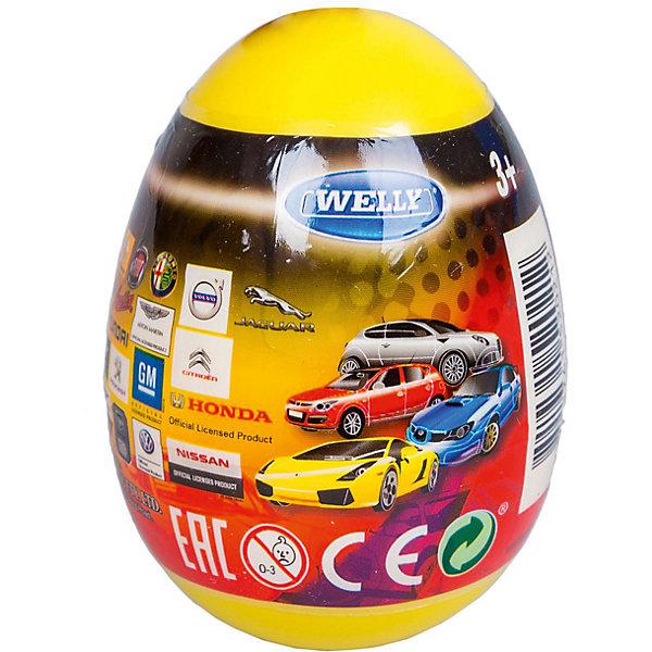 Купить Модель машины 1:60 Яйцо-сюрприз , жёлтая, Welly, Китай, Мужской
