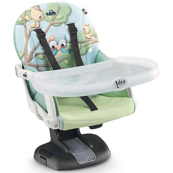 Стульчик для кормления Idea, CAM, совы.Стульчики для кормления<br>Стульчик для кормления Idea, CAM, совы – компактная модель для дома и дачи.<br>Тип стульчика – бустер. Он крепится к обычной мебели и может быть отрегулирован с помощью 7 уровней высоты сидения. Мягкое сидение и подлокотники делают сиденье комфортным для ребенка, а ремни безопасности защищают малыша от падения и не дают ему выбраться самостоятельно. <br><br> Дополнительная информация:<br>- размер: 52х36х40 см<br>- вес: 2,8<br><br><br>Стульчик для кормления Idea, CAM, совы можно купить в нашем интернет магазине.<br>Ширина мм: 995; Глубина мм: 369; Высота мм: 504; Вес г: 3750; Возраст от месяцев: 6; Возраст до месяцев: 36; Пол: Унисекс; Возраст: Детский; SKU: 5111807;