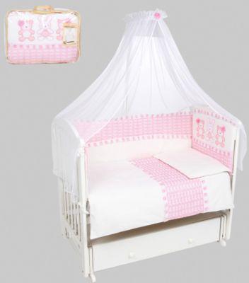 Постельное белье  Нежные друзья  7 предметов, Leader kids, розовый, артикул:5111968 - Детский текстиль