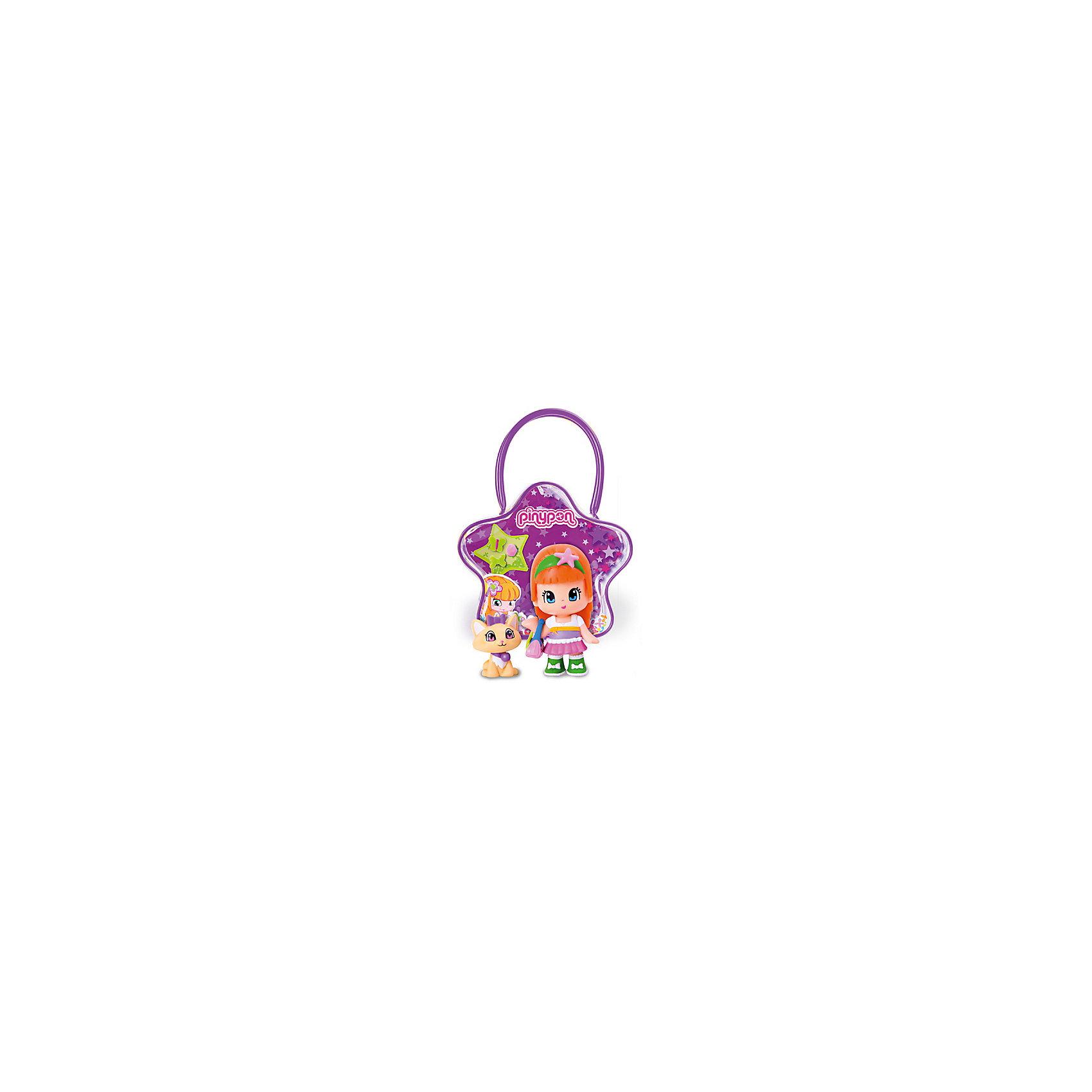 Кукла Пинипон с оранжевыми волосами кошечкой в сумочке, Famosa 5115718