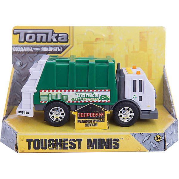 Tonka Машинка Мусоровоз Minis, со светом и звуком, Tonka машинки toystate машинка toystate