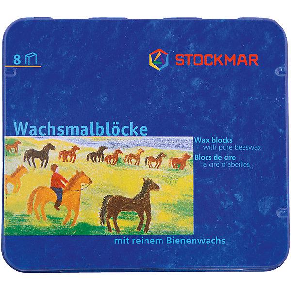 Stockmar Мелки-блоки Вальдорф, 8 цветов, Stoсkmar stockmar мелки блоки 16 цветов stoсkmar