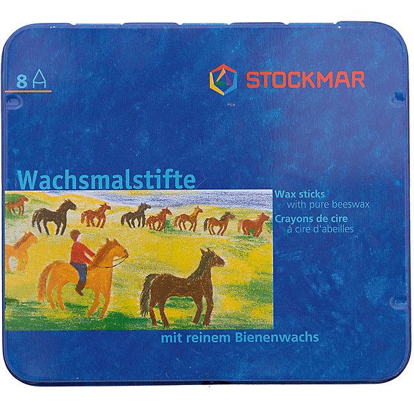 Stockmar Мелки восковые пальчиковые Вальдорф 8 цветов, Stoсkmar