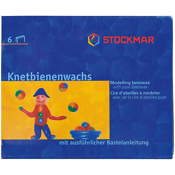 Stockmar Воск для моделирования, 6 цветов, Stockmar stockmar мелки блоки 16 цветов stoсkmar