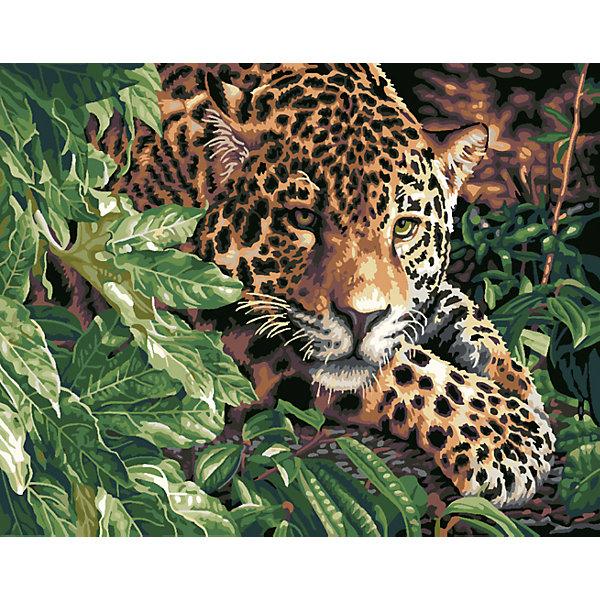 Купить Роспись по номерам Леопард 40*50 см, TUKZAR, Китай, Унисекс