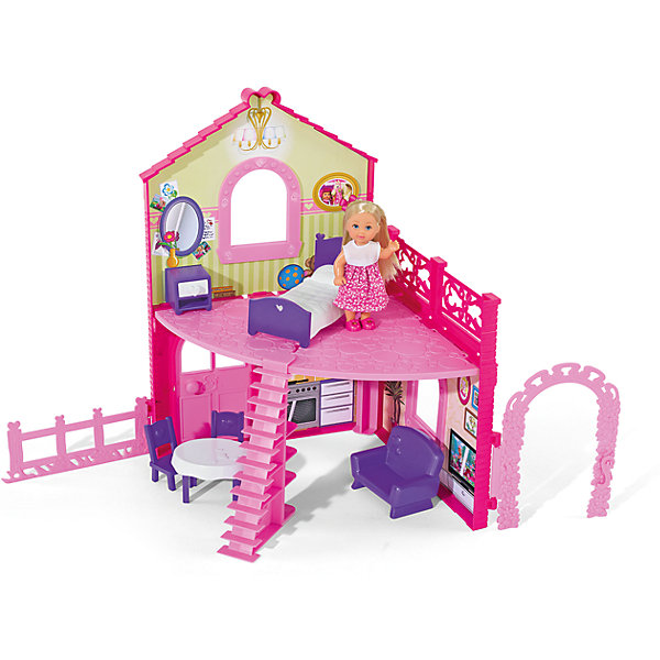 Simba Кукла Еви в двухэтажном доме, Simba куклы и одежда для кукол simba кукла еви делает попкорн 12 см