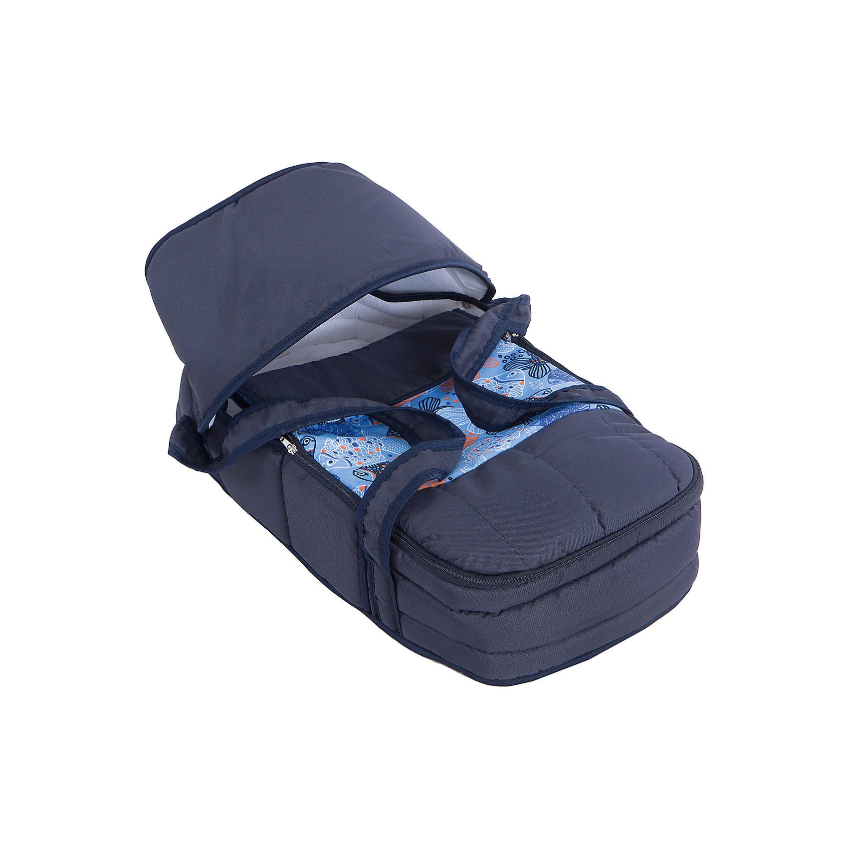 Коляска-трансформер Классик, Marimex, синий/голубой с принтом