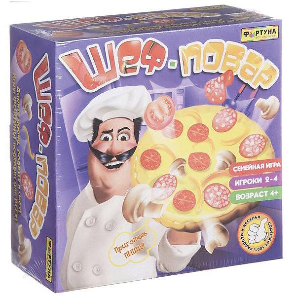 Фортуна Настольная игра Шеф-повар, Фортуна игра настольная юный повар пицца 20х3 5х24 5см