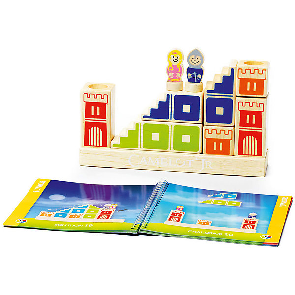 Логическая игра Камелот, BondibonСтратегические настольные игры<br>Характеристики:<br><br>• Вид игр: игра-конструктор<br>• Пол: универсальный<br>• Материал: дерево, бумага, картон<br>• Количество игроков: 1<br>• Количество уровней сложности: 4<br>• Количество заданий: 48<br>• Размер (Д*Ш*В): 24*5*24 см<br>• Вес: 1 кг 014 г<br>• Комплектация: блоки для постройки замка и моста, фигурка принцессы, фигурка принца, блокнот с заданиями, инструкция<br><br>Логическая игра Камелот, Bondibon – это настольная игра от всемирно известного производителя детских игр развивающей и обучающей направленности. Smart Games – это серия логических игр, предназначенная для одного игрока с несколькими уровнями сложности и множеством заданий. Цель игры Камелот заключается в том, чтобы помочь добраться принцу до принцессы, построив замок, башни и мост в соответствии с заданием, указанным в карточке. Элементы игры выполнены из качественного обработанного дерева, упакованы в картонную коробку. В комплекте имеется инструкция с правилами игры и буклет с заданиями.<br><br>Логические игры Smart Games от Bondibon научат ребенка логическому и пространственному мышлению, концентрации внимания и выработке индивидуальной тактики решения игровых задач. Настольные игры от Bondibon – залог развития успешности вашего ребенка в будущем! <br><br>Логическую игру Камелот, Bondibon можно купить в нашем интернет-магазине.<br>Ширина мм: 240; Глубина мм: 60; Высота мм: 240; Вес г: 950; Возраст от месяцев: 48; Возраст до месяцев: 108; Пол: Унисекс; Возраст: Детский; SKU: 5121957;