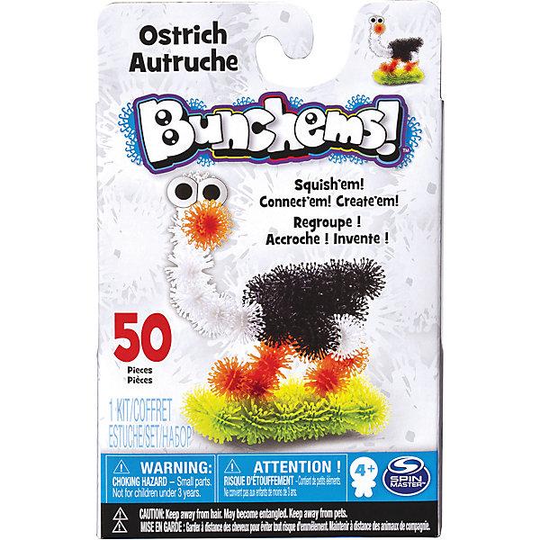 Набор Страус, BunchemsПластмассовые конструкторы<br>Набор Страус, Bunchems (Банчемс).<br><br>Характеристики:<br><br>- Возраст: от 4 лет<br>- Для мальчиков и девочек<br>- В наборе: 50 шариков-репейников (белый, черный, оранжевый, зеленый), глаза, инструкция<br>- Диаметр шарика-репейника: 2 см.<br>- Материал: мягкий качественный нетоксичный пластик, окрашенный в яркие цвета гипоаллергенными красителями<br>- Размер упаковки: 11,5 x 4,5 x 18,5 см.<br>- Упаковка: картонная коробка<br><br>С помощью мягкого конструктора-липучки Bunchems (Банчемс) Страус от торговой марки Spin Master ваш малыш сможет собрать фигурку симпатичного яркого страуса, стоящего на пушистой зеленой травке. А дополнительный аксессуар, глаза, сделает образ животного более забавным. Конструктор работает на простом и эффективном принципе, который создатели этой серии игрушек подсмотрели у природы! Элементы конструктора - шарики - с помощью мини-крючков легко соединяются между собой и также легко разъединяются, как репейник. В результате горсти таких шариков можно придавать разнообразную форму. Для лучшего сцепления необходимо как можно плотнее прижимать детали. Получившаяся фигурка не разваливается, с ней можно играть дома, на улице, в ванной – где угодно! Элементы конструктора выполнены из мягкого безопасного пластика, в центре шариков находятся отверстия для аксессуаров. Конструктор отлично развивает фантазию и пространственное мышление ребенка. Элементы конструктора упакованы в специальную картонную коробку, цвета шариков разделены при помощи поддона с ячейками. С конструктором не рекомендуется играть детям младше 4 лет. Перед игрой у девочек волосы следует собрать в хвост или в пучок во избежание запутывания игровых элементов! После окончания игры все детали убрать в коробку для исключения травмирующих ситуаций!<br><br>Набор Страус, Bunchems (Банчемс) можно купить в нашем интернет-магазине.<br>Ширина мм: 145; Глубина мм: 221; Высота мм: 233; Вес г: 300; Возраст от месяцев: 48; Возраст до месяцев: 14