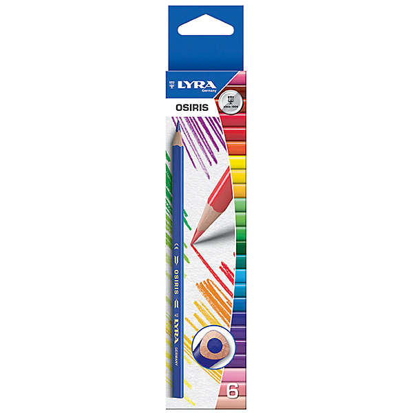LYRA Цветные треугольные карандаши, 6 шт. карандаши цветные crayola 12 шт