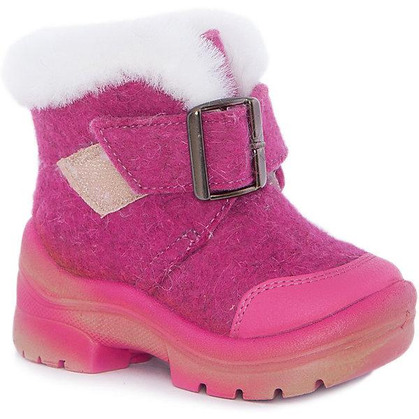Валенки Ариша для девочки ФилипокВаленки<br>Характеристики товара:<br><br>• цвет: розовый<br>• температурный режим: от -5° С до -30° С<br>• внешний материал: эко-войлок (натуральная шерсть)<br>• подкладка: натуральная овечья шерсть<br>• стелька: шерстяной войлок (3,5 мм)<br>• подошва: литая, полиуретан<br>• декорированы искусственным мехом и пряжкой<br>• подошва с анти скользящей с системой протектора anti slip<br>• защита носка - натуральная кожа с износостойкой пропиткой<br>• усиленная пятка<br>• толстая устойчивая подошва<br>• страна бренда: РФ<br>• страна изготовитель: РФ<br><br>Очень теплые и удобные валенки для ребенка от известного бренда детской обуви Филипок созданы специально для русской зимы. Качественные материалы с пропиткой против попадания воды внутрь и модный дизайн понравятся и малышам и их родителям. Подошва и стелька обеспечат ребенку комфорт, сухость и тепло, позволяя в полной мере наслаждаться зимним отдыхом. Усиленная защита пятки и носка обеспечивает дополнительную безопасность детских ног в этих сапожках.<br>Эта красивая и удобная обувь прослужит долго благодаря отличному качеству. Производитель анти скользящее покрытие и амортизирующие свойства подошвы! Модель производится из качественных и проверенных материалов, которые безопасны для детей.<br><br>Валенки для девочки от бренда Филипок можно купить в нашем интернет-магазине.<br>Ширина мм: 257; Глубина мм: 180; Высота мм: 130; Вес г: 420; Цвет: розовый; Возраст от месяцев: 48; Возраст до месяцев: 60; Пол: Женский; Возраст: Детский; Размер: 28,22,30,29,27,26,25,24,23; SKU: 5132401;