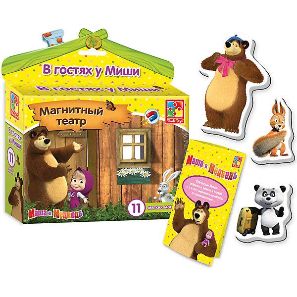 """Магнитный театр """"В гостях у Миши"""", Маша и Медведь, Vladi Toys"""